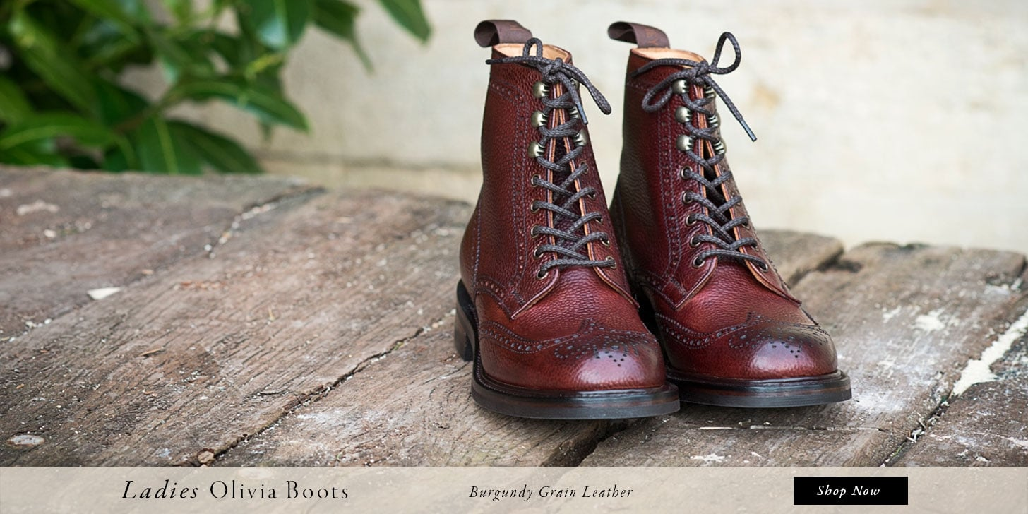 Ladies Olivia Boots in Burgundy Grain