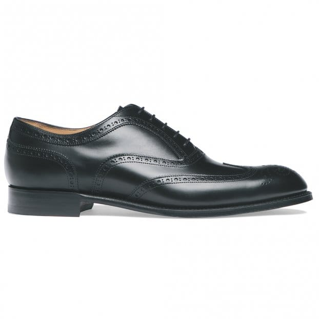 Cheaney Arthur III Oxford Brogue in Black Calf Leather