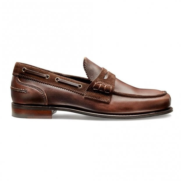 Cheaney Mirage D Loafer in Brown Pull up Leather/Tunisie Suede