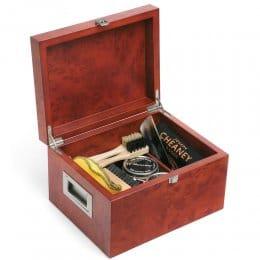 Wooden Valet Shoe Care Box