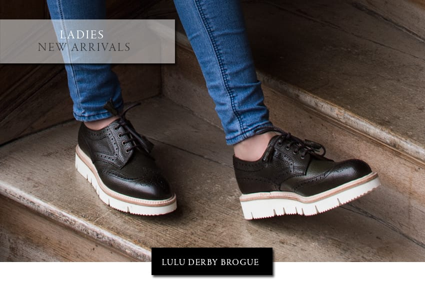 New Arrival | Lulu Ladies Derby Brogue | Made in England