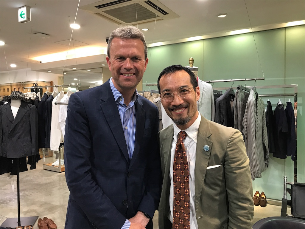 William Church Joint MD is currently in Japan doing some store training at United Arrows District