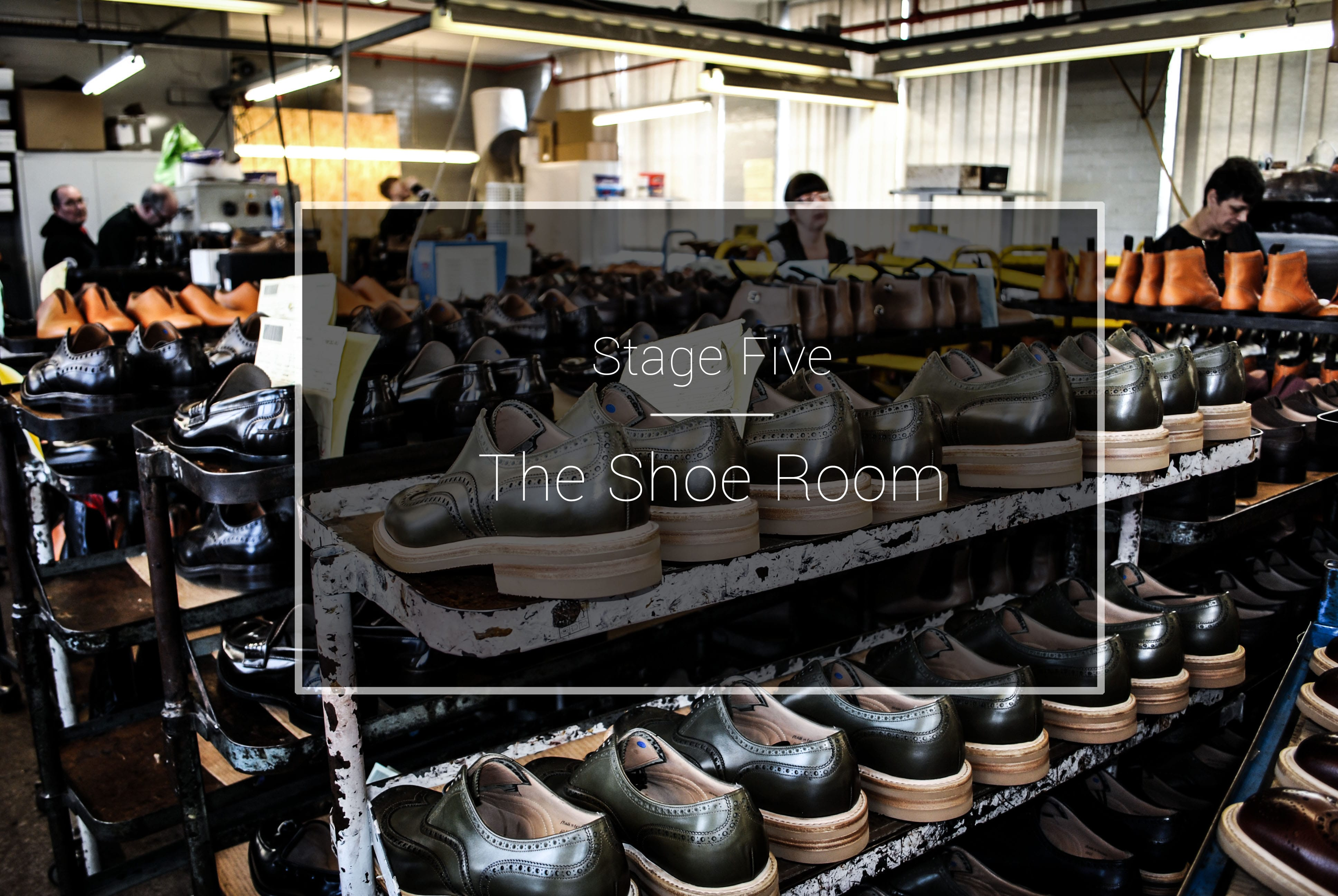 The Cheaney Factory: The Shoe Room