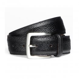 Black Grain Belt with Silver Buckle