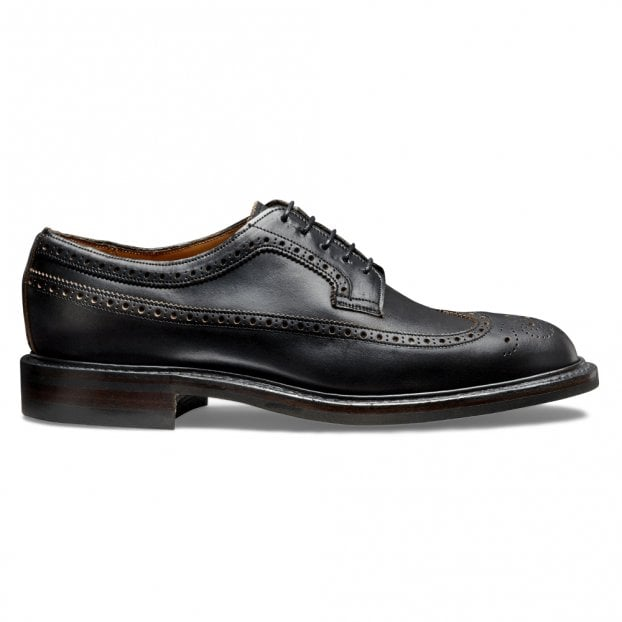 Cheaney Addison R Long Wing Brogue in Black Chromexcel Leather
