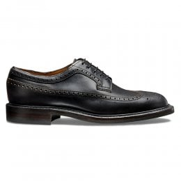 Addison R Long Wing Brogue in Black Chromexcel Leather