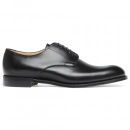 Albany Derby in Black Calf Leather | Leather Sole