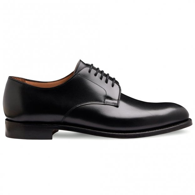 Cheaney Albany II Derby in Black Calf Leather | Leather Sole
