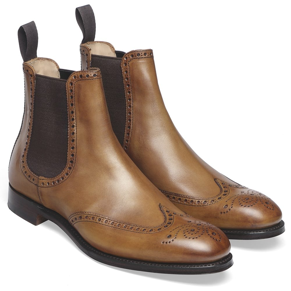 Albert II Brogue Chelsea Boot in Original Chestnut Calf Leather 722056a8eb5a