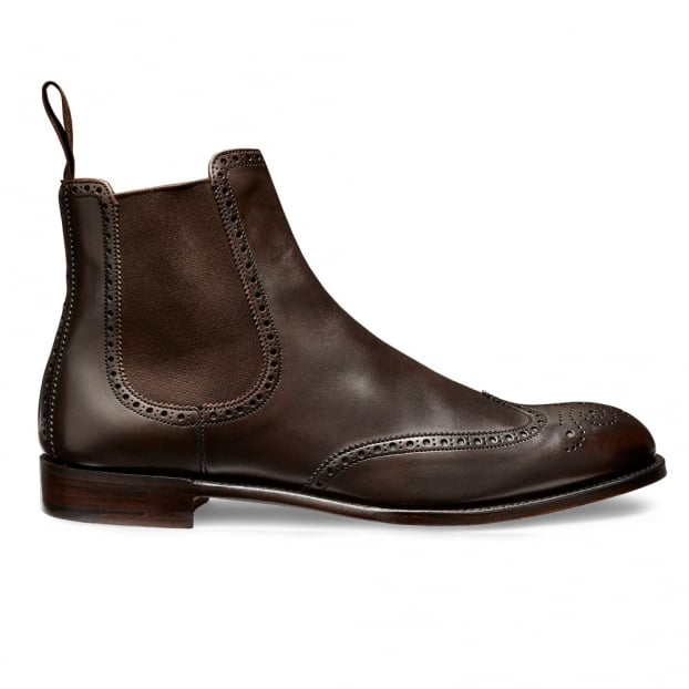 Cheaney Albert II Chelsea Boot in Burnished Mocha Calf Leather