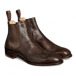 Albert ll Chelsea Boot in Burnished Mocha Calf Leather