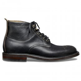 Alexander R Plain Front Derby Boot in Black Chromexcel Leather