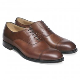 Alfred Capped Oxford in Conker Calf Leather