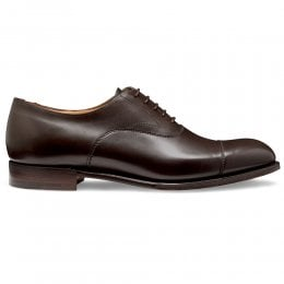 Alfred Capped Oxford in Mocha Calf Leather