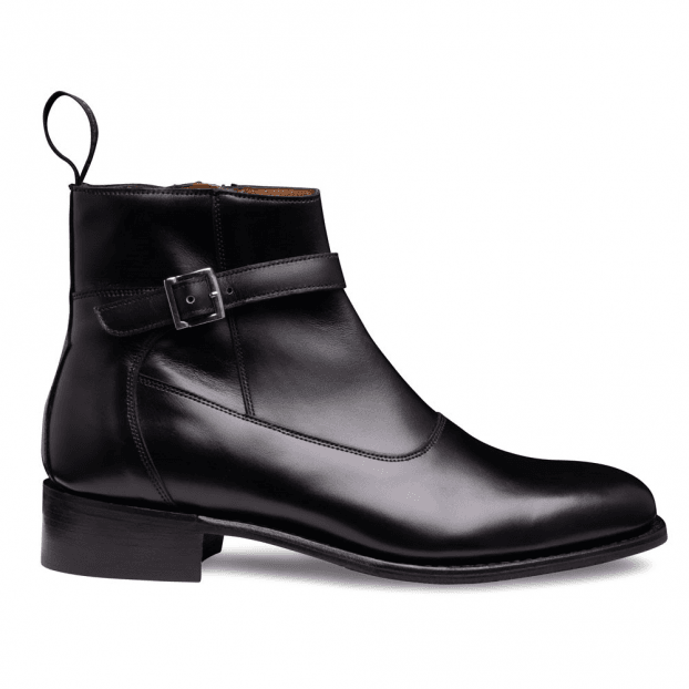 Cheaney Alice D+ Jodhpur Zip Boot in Black Calf Leather