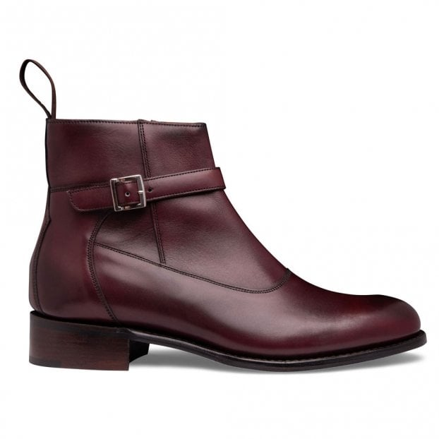 Cheaney Alice D+ Jodhpur Zip Boot in Burgundy Calf Leather