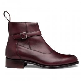 Alice D+ Jodhpur Zip Boot in Burgundy Calf Leather