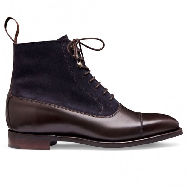 Cheaney Anna D+ Balmoral Boot in Burnished Mocha/Oceano Suede