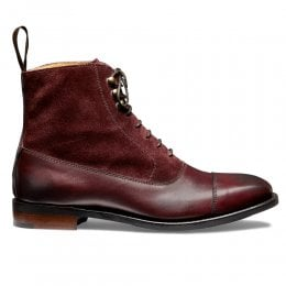 Anna Ladies Balmoral Boot in Burnished Burgundy / Plum Suede