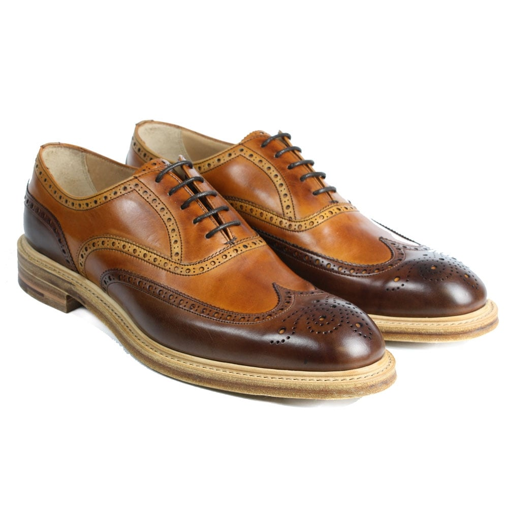 Cheaney Archie Mens Two Tone Oxford Brogue Made In England