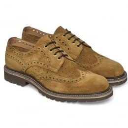 Arden GV Wingcap Perforated Brogue in Maracca Suede