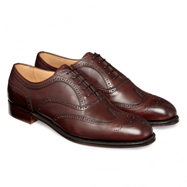 Cheaney Arthur III Brogue in Burgundy Calf Leather