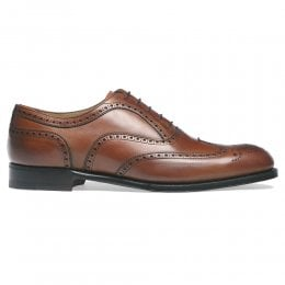 Arthur III Brogue in Dark Leaf Calf Leather | Leather Sole