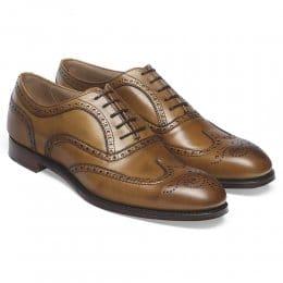 Arthur III Brogue in Original Chestnut Calf Leather