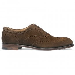 Arthur III Brogue in Plough Suede