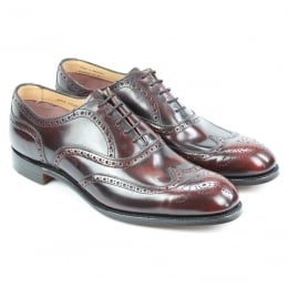 Arthur III Brogue in Port Rub Off Leather