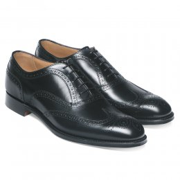 Arthur III D Brogue in Black Calf Leather | Diamond Rubber Sole
