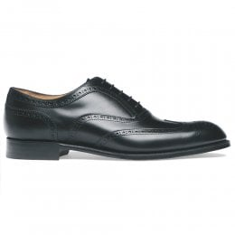 Arthur III D Oxford Brogue in Black Calf Leather | Diamond Rubber Sole