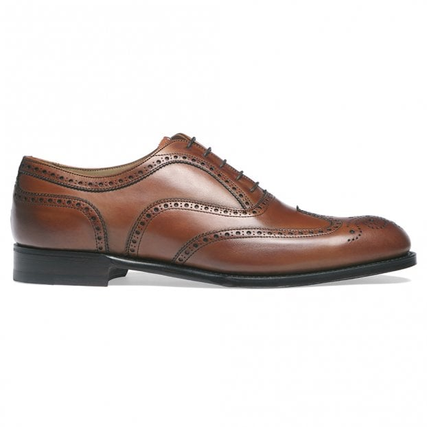 Cheaney Arthur III D Oxford Brogue in Dark Leaf Calf Leather | Diamond Rubber Sole