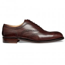 Arthur III Oxford Brogue in Burgundy Calf Leather