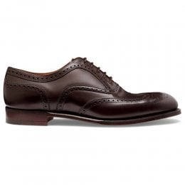 Arthur III Oxford Brogue in Mocha Calf Leather