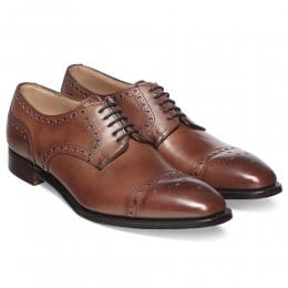 Attleborough Derby Semi Brogue in Conker Calf Leather