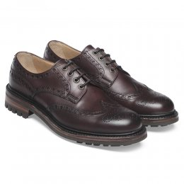 Avon C Wingcap Country Brogue in Burgundy Calf Leather