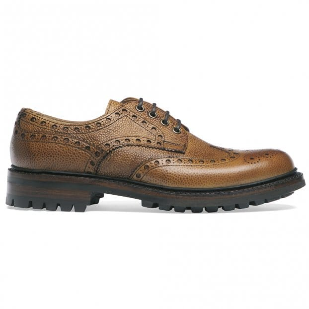 Cheaney Avon C Wingcap Derby Brogue in Almond Grain Leather