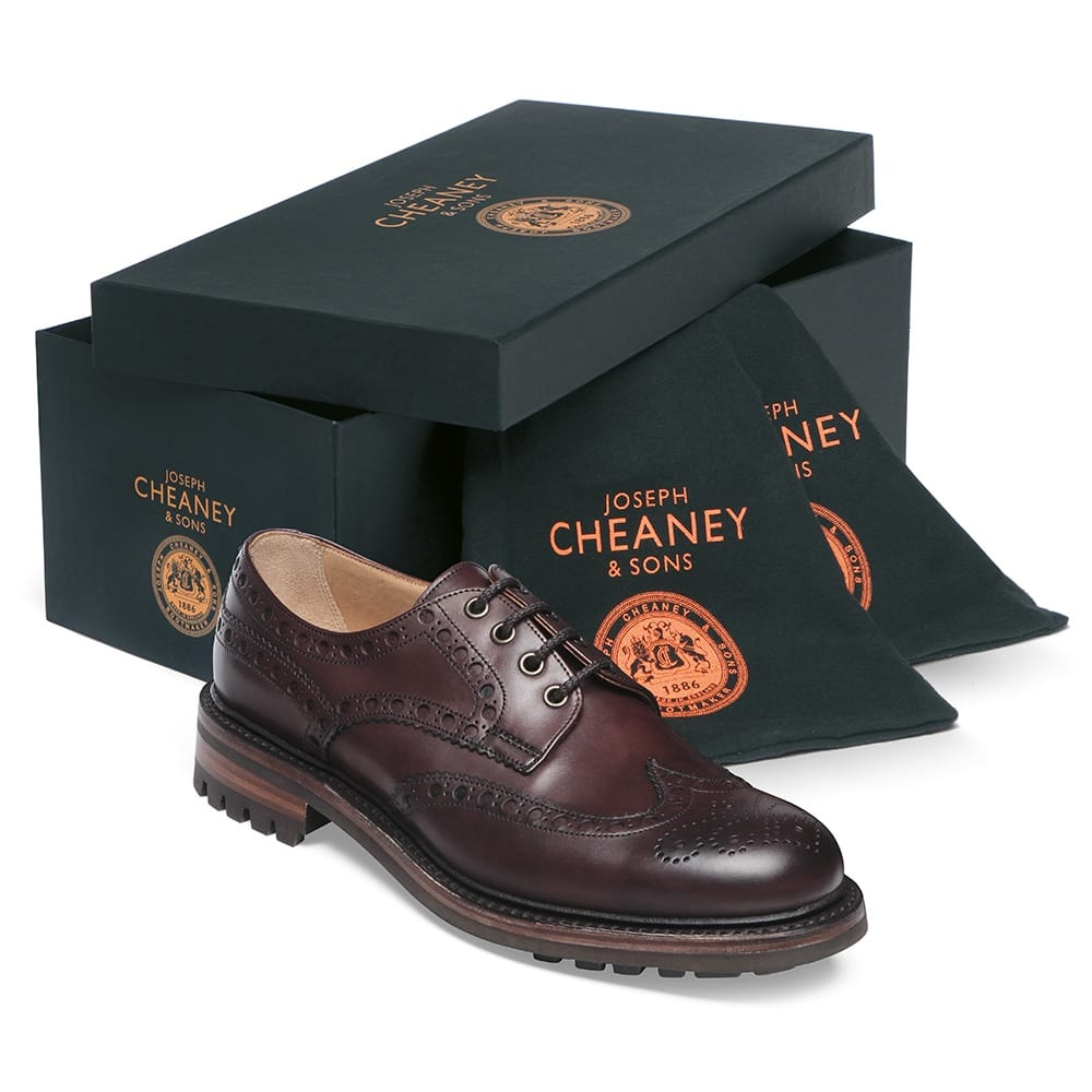 Cheaney Avon C   Men's Burgundy Leather