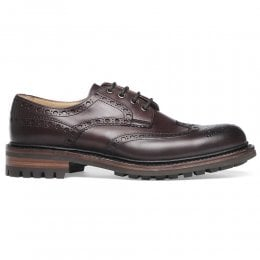 Avon C Wingcap Derby Brogue in Burgundy Calf Leather