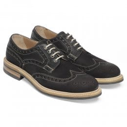 Avon D Wingcap Country Brogue in Brown Spilt Coupe Leather