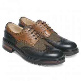 Avon F Wingcap Country Brogue in Walnut Almond & Woven Moons
