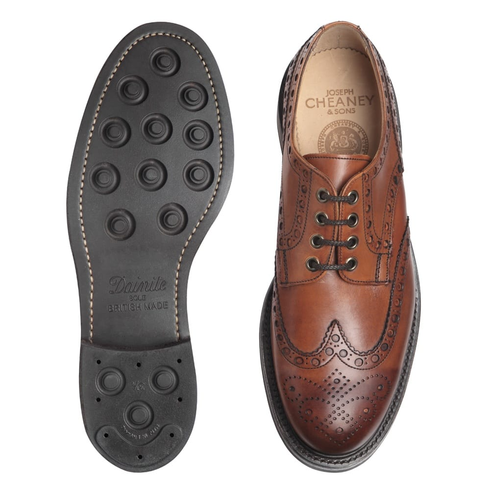 Cheaney Avon R Men S Bown Leather Brogue Hand Made In