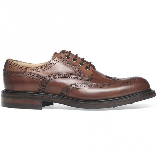Cheaney Avon R Wingcap Country Brogue in Dark Leaf Calf Leather | Dainite Rubber Sole