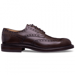Avon R Wingcap Derby Brogue in Mocha Calf Leather