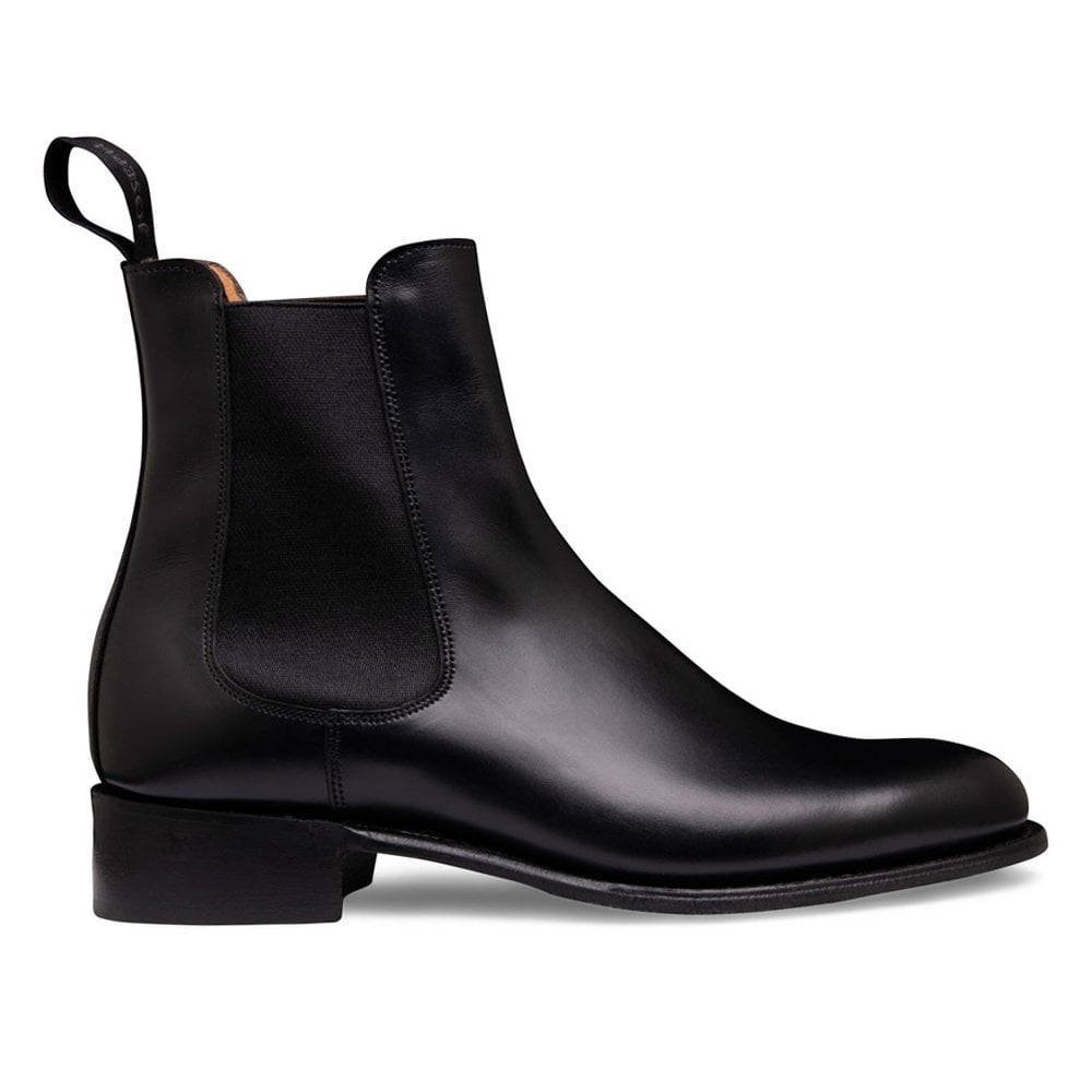 090adf88f37 Cheaney Avril D Chelsea Boot in Black Calf Leather