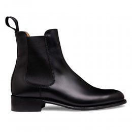 Avril D Chelsea Boot in Black Calf Leather