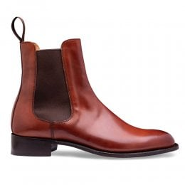 Avril D Chelsea Boot in Dark Leaf Calf Leather