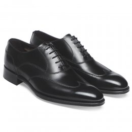 Balmoral Oxford in Black Calf Leather