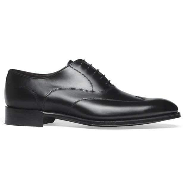 Cheaney Balmoral Oxford in Black Calf Leather